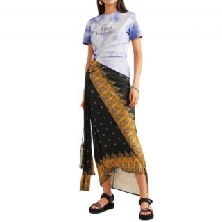 Paco Rabanne Printed stretch-jersey wrap skirt