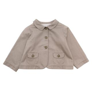 Bonpoint Cream Cotton Jacket