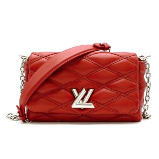 Louis Vuitton Red Leather Twist Quilted Mini Bag