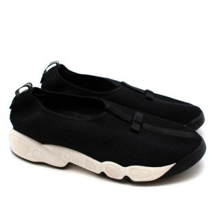 Christian Dior Black Slip-on Trainers with Bow Details
