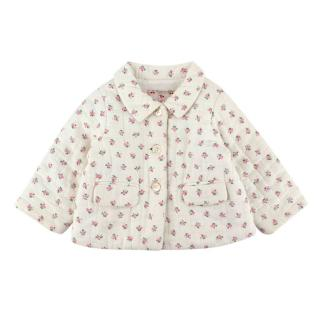 Bonpoint White Floral Cotton Padded Jacket