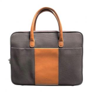 Delvaux Airess Canvas & Leather Briefcase