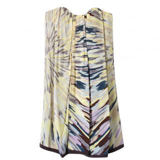 Missoni Silk Strapless Mini Dress