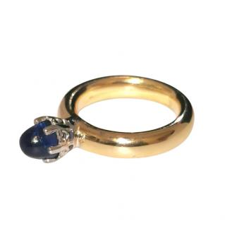 Bespoke 18ct Yellow Gold Sapphire Bullet Ring