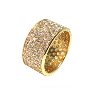 Bespoke 18ct Yellow Gold Full Diamond Ring