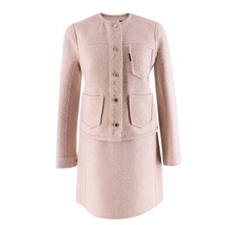 Louis Vuitton Light Pink Wool blend Skirt Suit