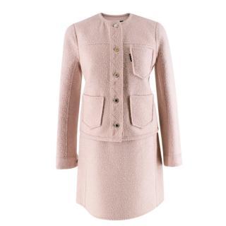 Louis Vuitton Light Pink Wool blend Skirt Suit