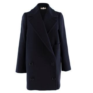 Stella McCartney Navy Wool blend Oversize Double Breasted Coat