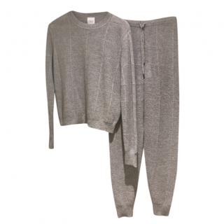 Madeleine Thompson Grey Cashmere Knit Lounge Set