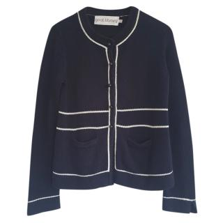 Goat Library Navy Cotton Cardigan