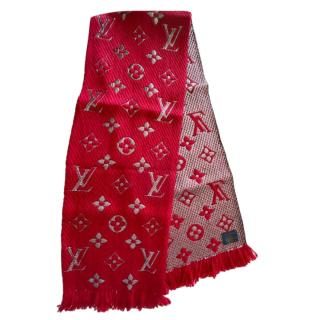 Louis Vuitton Red Logomania Shine Scarf