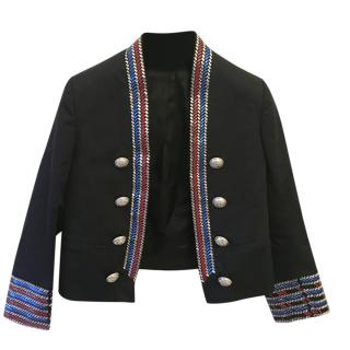 Balmain Girls Embellished Military Jacket