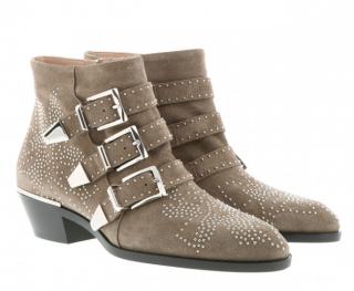 Chlo� Susanna Boots Suede Foggy Khaki