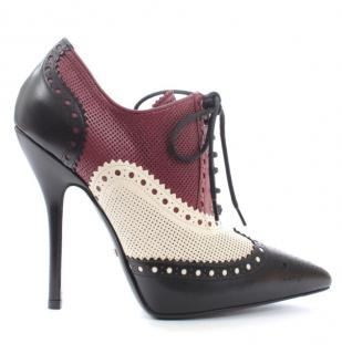 Gucci Colour blocked Brogue Style Booties