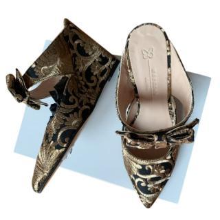 Max Mara Damask Wedge Sandals
