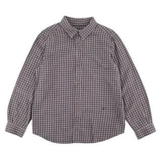 Bonpoint Blue & Cream Check Cotton Flannel Shirt