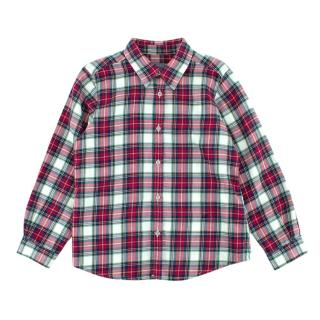 Bonpoint Red & Blue Checkered Cotton Flannel Long Sleeve Shirt
