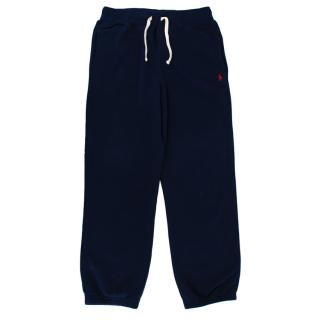 Polo Ralph Lauren Navy Cotton Blend Logo Sweatpants