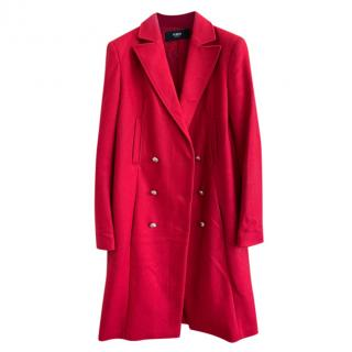 Versus Versace Red Wool Coat