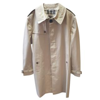 Burberry Beige Single Breasted Trench Coat