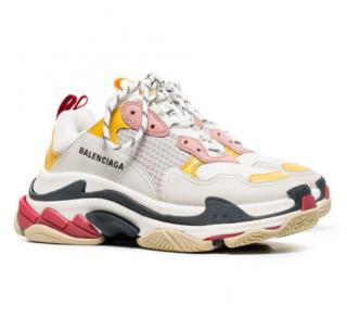 Balenciaga Triple-S White/Pink/Yellow Sneakers