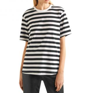 Victoria, Victoria Beckham Striped cotton-jersey T-shirt