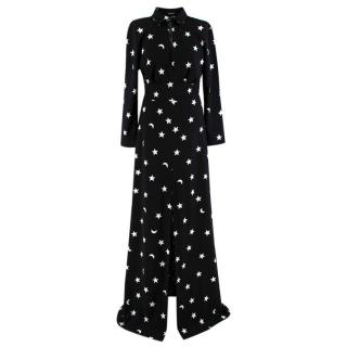 Pfeiffer Black & White Star & Moon Pattern Dress