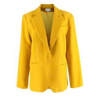 Milly Mustard Cotton & Wool blend Single Breasted Blazer