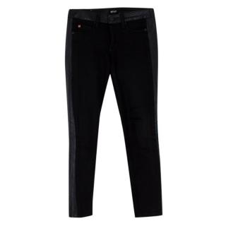 Hudson Black 'Leeloo' Super Skinny Crop Jeans