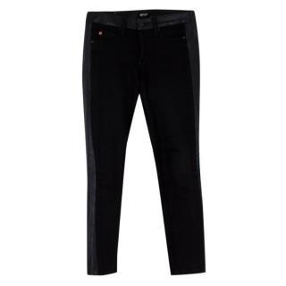 Hudson Black 'Leeloo' Super Skinny Crop Jeans