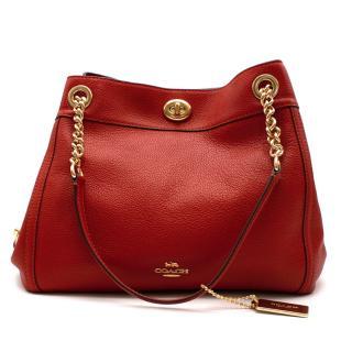 Coach New Season Red Turnlock Edie Shoulder Bag