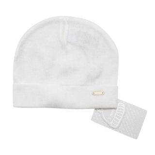 Il Trenino White Soft Cotton Artisanal Beanie