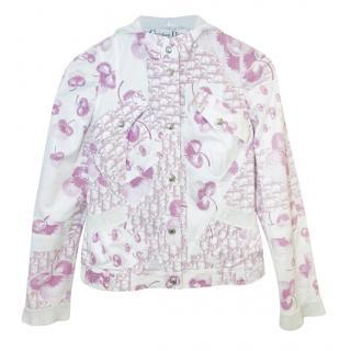 Christian Dior Vintage White/Pink Oblique Monogram Jacket