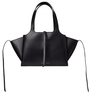 Celine Black Calfskin Trifold Tote Bag
