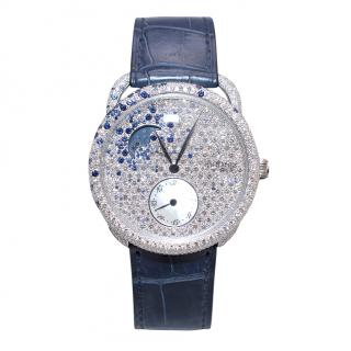 Herm�s Arceau Petite Lune Watch with Sapphires & Diamonds - 38mm