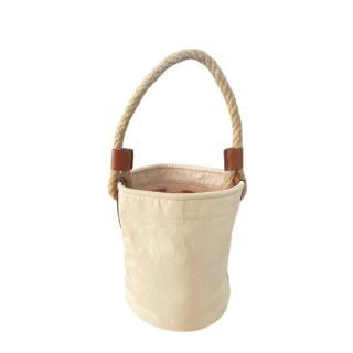 Loewe Cotton & Linen Blend Bucket Bag