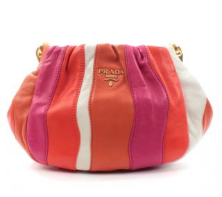 Prada Candy Striped Nappa Leather Crossbody Bag