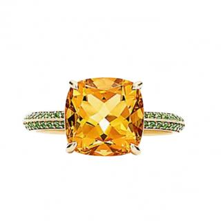 Tiffany & Co. Sparklers Collection 3.5ct Citrine & Tsavorite Ring
