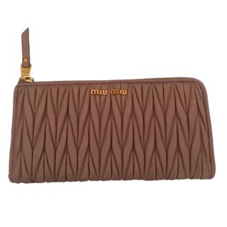Miu Miu Matelasse Nappa Leather Cameo Wallet