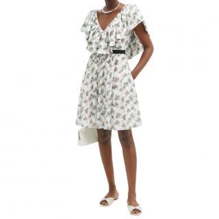 Emilia Wickstead Floral Print White Juniper Dress
