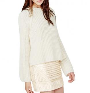 Maje Cream Knit Minotore jumper
