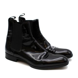 Max Verre Black Patent Leather Boots