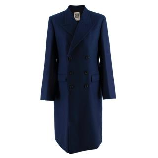 Connolly Double-breasted peak-lapel wool-blend coat