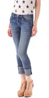 Current/Elliott Cuffed Distressed Jeans