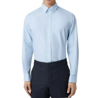 Burberry Classic Fit Cotton Oxford Shirt in Pale Blue