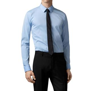 Burberry Classic Tailored Cotton Oxford Shirt in Blue
