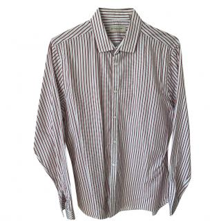 Burberry Tailored Classic Burgundy Striped Shirt