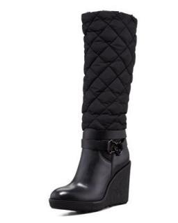 Moncler Black Cernobbio Quilted Dolmias Boot