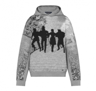 Louis Vuitton Limited Edition Brick Road Jacquard Hoodie