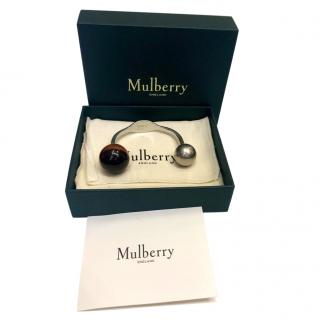 Mulberry Tigers Eye Crystal Silver Plated Bangle